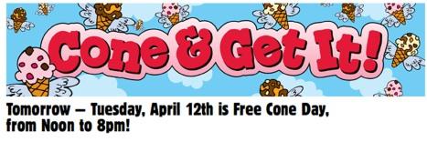 ben & jerry free ice cream