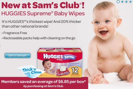 huggies sam's club sample