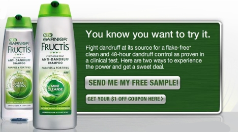 garnier dandruff sample